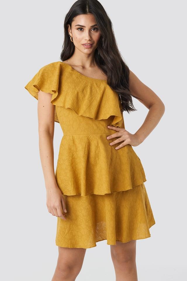 Yol One Shoulder Dress Trendyol