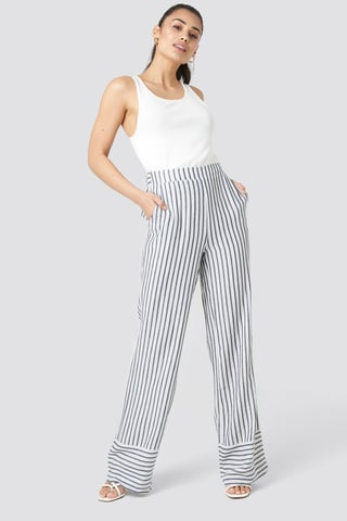 Multicolor Yol Stripe Wide Pants