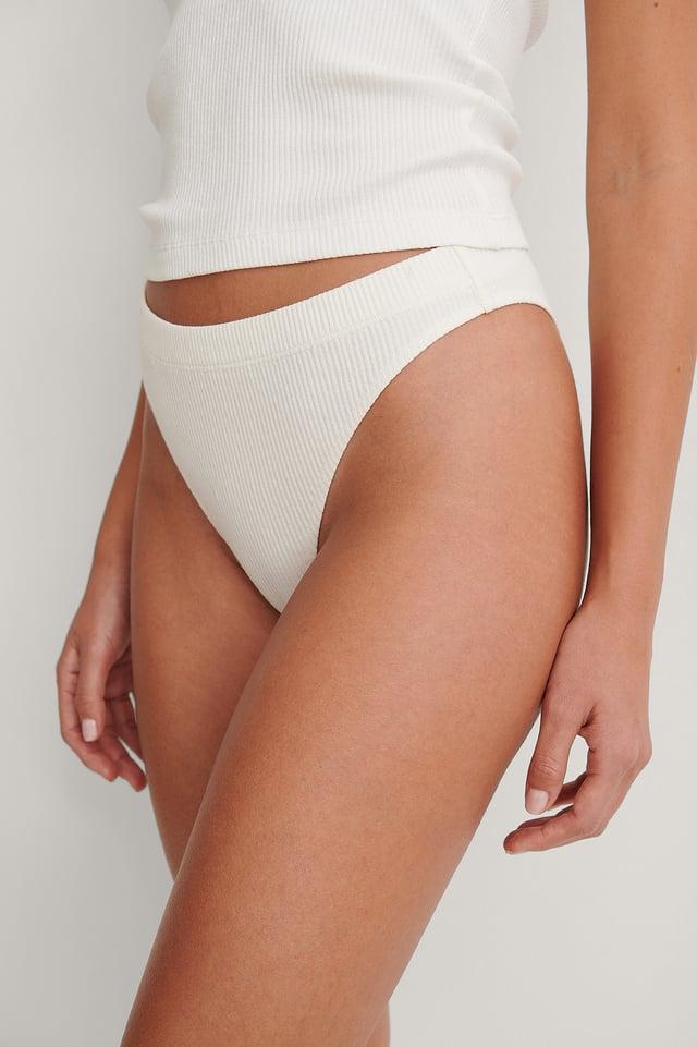 White High Cut Pantie