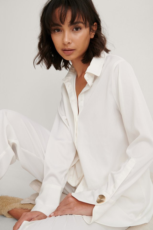 White Recycled Loose Shirt
