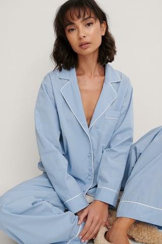 Blue Organisch Hemd