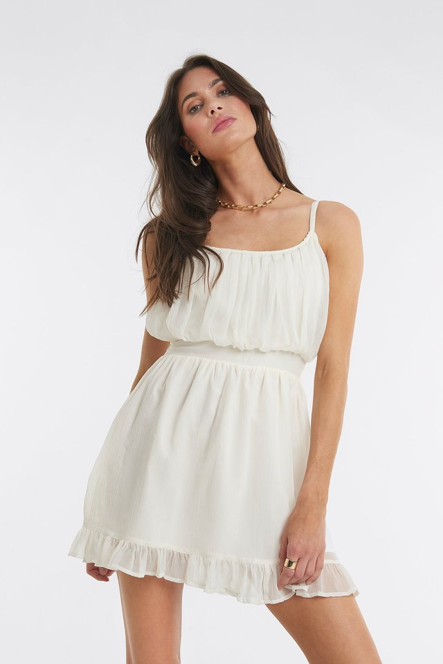 Elio Mini Dress Offwhite