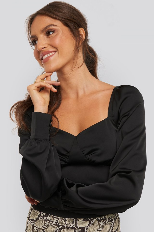 Jaqueline Puff Sleeve Blouse Black