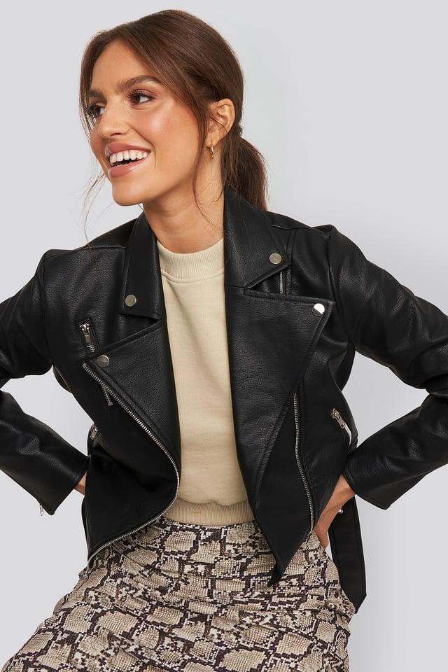 Lauren biker jacket Black