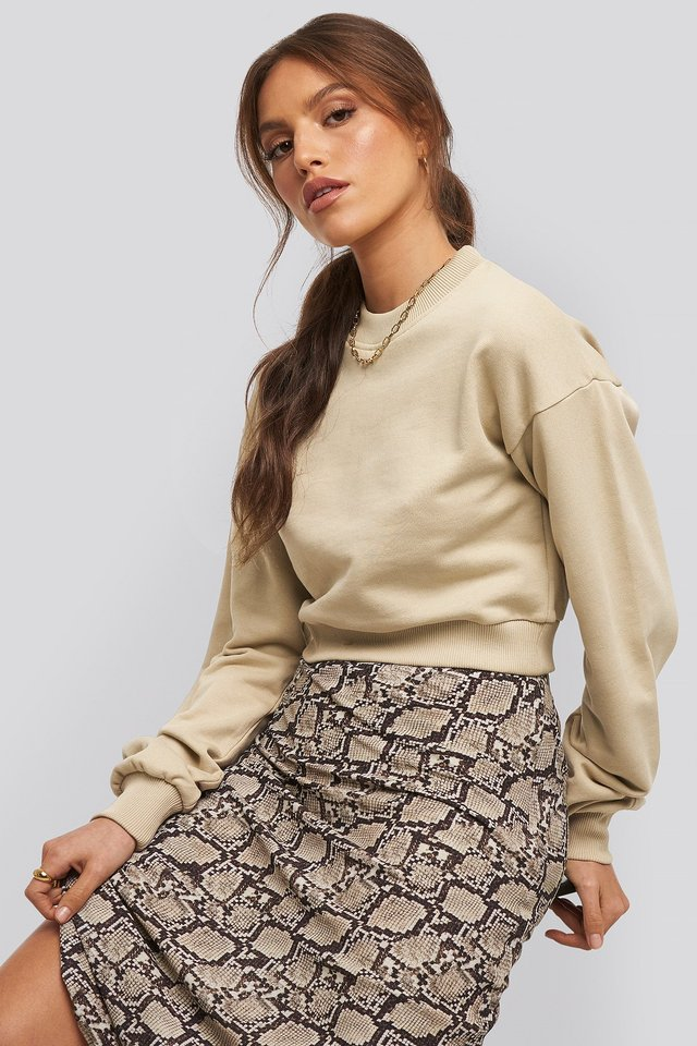 Paige cropped sweatshirt Light Beige