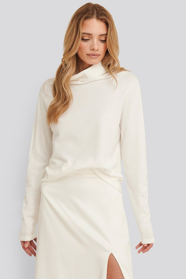 Shawna Polo Knitted Sweater White