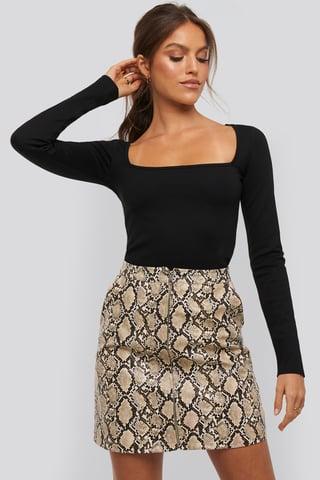 Snake Taylor zipper skirt