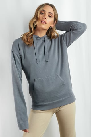 Grey Ty Knitted Hoodie